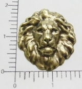 12 Pc Large Lion Head Finding Stamping Brass Ox