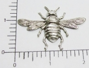 12 Pc Large Bee Brass Jewelry Finding Stamping Matte Silver Ox