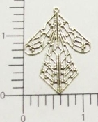 Filigree Angel Skirt Matte Silver Ox Brass Finding (pkg of 12)