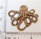 Octopus Large, Brass Ox Brass Finding (pkg of 12)