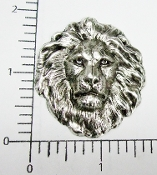 12 Pc Large Lion Head - Matte Silver Ox