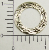 (Package Of 12)  Round Filigree Open Center (Matte Silver