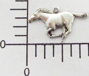 12 Pc Running Horse Matte Silver Ox
