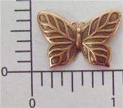 Victorian Butterfly Jewelry Finding, Copper Ox (pkg of 12)