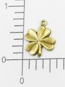 4-Leaf Clover Charm Jewelry Finding, Brass Oxidized