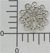 12 Pc Victorian Round Filigree, Silver Ox