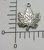 12 Pc Maple Leaf Charm Jewelry Finding, Matte Silver Ox