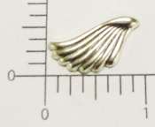 19394 - 12 Pc Angel Wing Matte Silver Ox