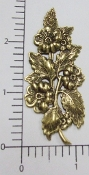 12 Pc Victorian Floral Spray Jewelry Finding Brass Ox