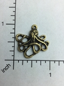 06003 - 12 Pc Sm Octopus W/Ring Jewelry Pewter/Casting Brass Ox