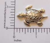 Turtle Jewelry Finding Stamping, Silver Ox (pkg of 12)