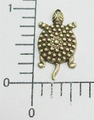 Turtle Jewelry Finding w/Hole Brass Oxidized (pkg of 12)