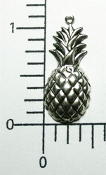 Victorian Pineapple Jewelry Finding Charm Silver Oxidized (12)