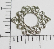 Ornate Filigree W/Open Center Jewelry Finding Silver Ox (12)