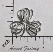 Victorian Round Filigree Silver Ox (pkg of 12)