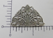 12 Pc Arched Victorian Filigree Brass Jewelry Finding SILVER Ox