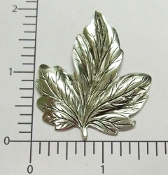 1 Pc Large Victorian Leaf Jewelry Finding Matte Silver Ox