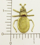 Beetle holds 18x13mm cab. Brass Ox (Package Of 12)