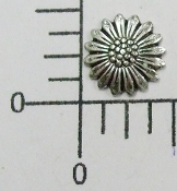 12 Pc Small Daisy NR Brass Finding Stamping Silver Ox