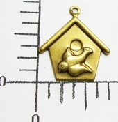 35861 - 12 Pc Birdhouse Jewelry Finding Charm Antique Gold
