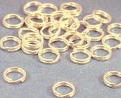 Jump Rings 6mm Oval Raw Brass / Jewelry Findings - 1 ounce