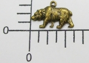 12 Pc Small Bear Charm Jewelry Finding Brass Oxidized