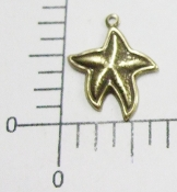 12 Pc Small Starfish Jewelry Finding Charm BRASS Ox