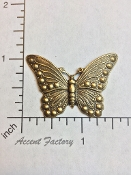 12 Pc Victorian Butterfly Jewelry Finding Brass Ox