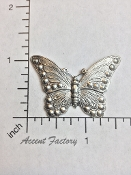 2 Pc Victorian Butterfly Jewelry Finding Silver Ox
