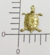 12 Pc Small Turtle Jewelry Finding Charm Brass Oxidized