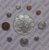 1 Pc Mixed Colors Asst. Coins Jewelry Findings/Blister Card