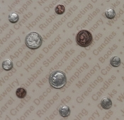 92498 - Silver/Copper Plated Asst. Coin Findings / Blister Card