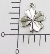 4-Leaf Clover Charm Jewelry Finding Matte Silver Ox