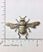 12 Pc Large Bee Brass Jewelry Finding Stamping Brass Ox