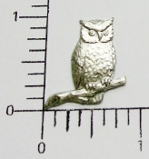 12 Pc Small Owl on Branch Jewelry Finding Silver Ox