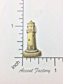 12 Pc Lighthouse Jewelry Finding Matte Brass Oxidized
