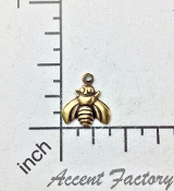 34143 - 12 Pc Small Honey Bee Jewelry Finding Charm Brass Ox