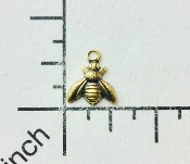 34093 - 6 Pc Small Honey Bee Jewelry Finding Brass Ox