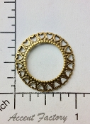 13753 - 12 Pc Victorian Filigree Jewelry Finding Brass Oxidized