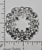 24814- Victorian Round Filigree Jewelry Finding Silver Ox