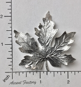 32994 - 1 Pc Large Maple Leaf Brass Jewelry Finding Silver Ox