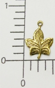 73233 - 12 Pc Maple Leaf Charm Jewelry Finding Brass Ox