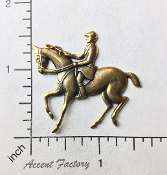40183 - 1 Pc Horse Jewelry Finding Equestrian Brass Ox