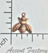 34115 - 12 Pc Small Honey Bee Charm Jewelry Finding Copper Ox
