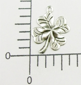 53364 - 12 Pc 4-Leaf Clover Charm Jewelry Finding Silver Ox