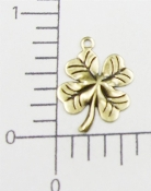 53363 - 12 Pc 4-Leaf Clover Charm Jewelry Finding Brass Ox