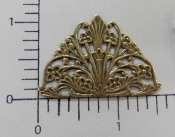12 Pc Arched Victorian Filigree Brass Jewelry Finding Brass Ox