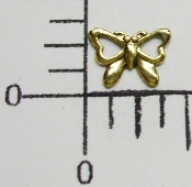 35391 - 12 Pc Tiny Butterfly Jewelry Finding Antique Gold