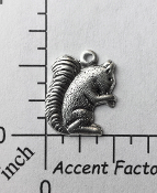 43624 - 12 Pc Small Squirrel Charm Jewelry Finding Silver Ox