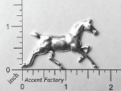 40204 - Large Running Horse Jewelry Finding Silver Ox